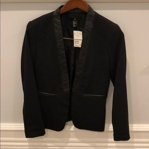 H&M Blazer with Leather Accents